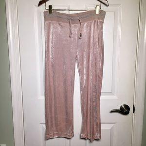 NWT BCBG Velour Cropped Rhinestone Pants